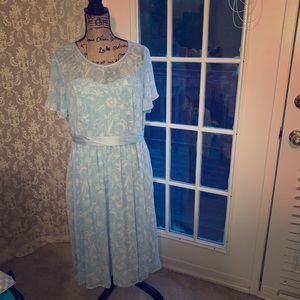 Alice in wonderland inspired chiffon dress